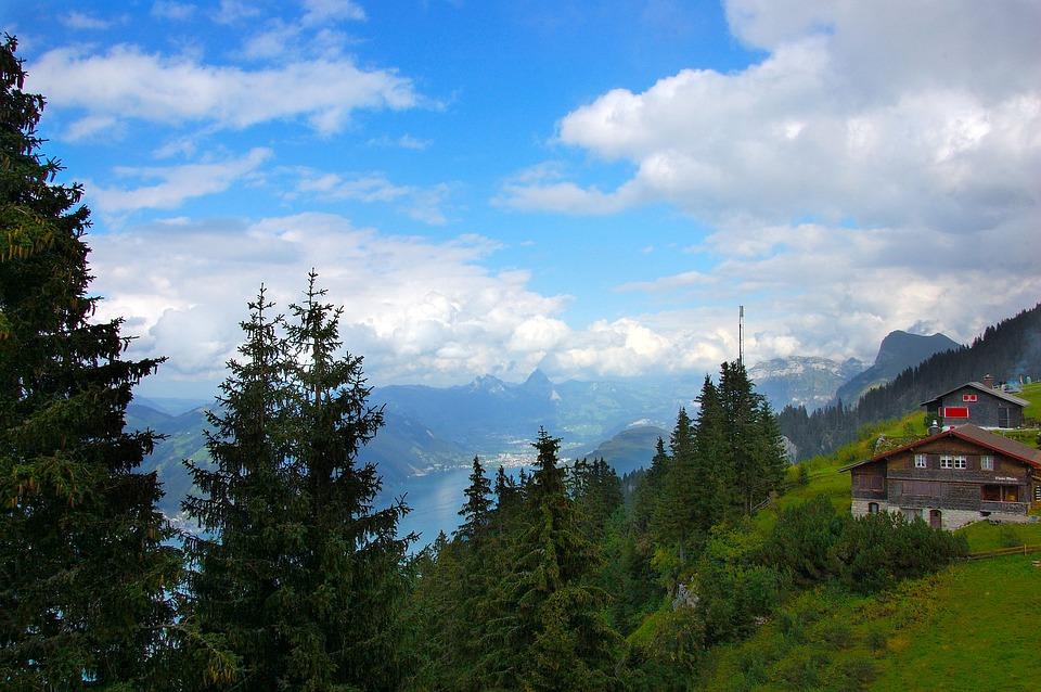 Klewenalp, Lake Lucerne Region, Mountains, Clouds