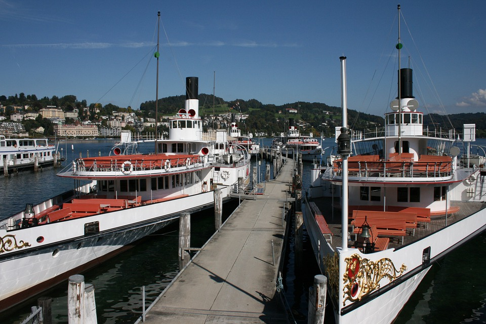 Ships, Steam Ships, Lake Lucerne Region, Lucerne