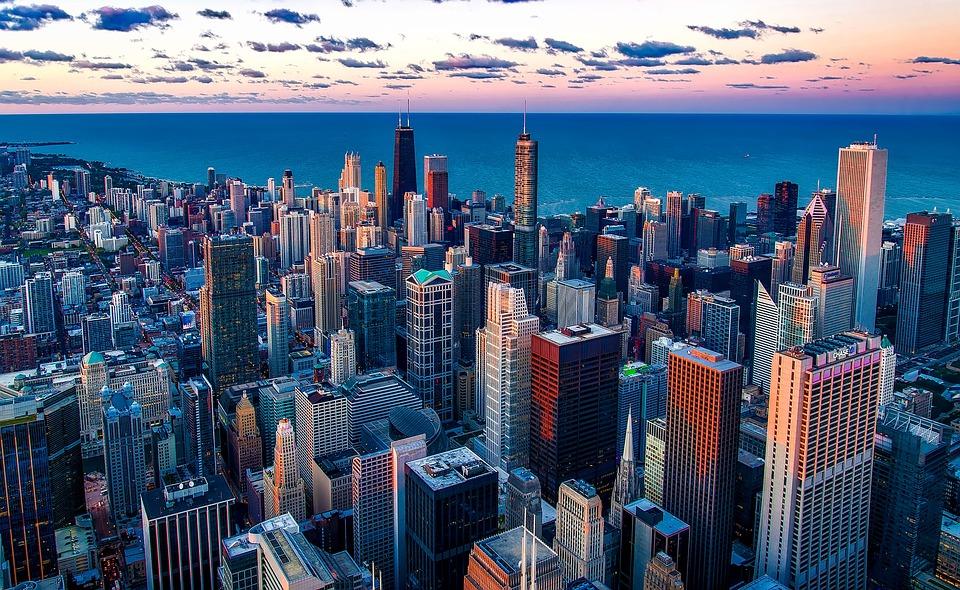 Chicago, Illinois, Lake Michigan, Water, Skyscraper