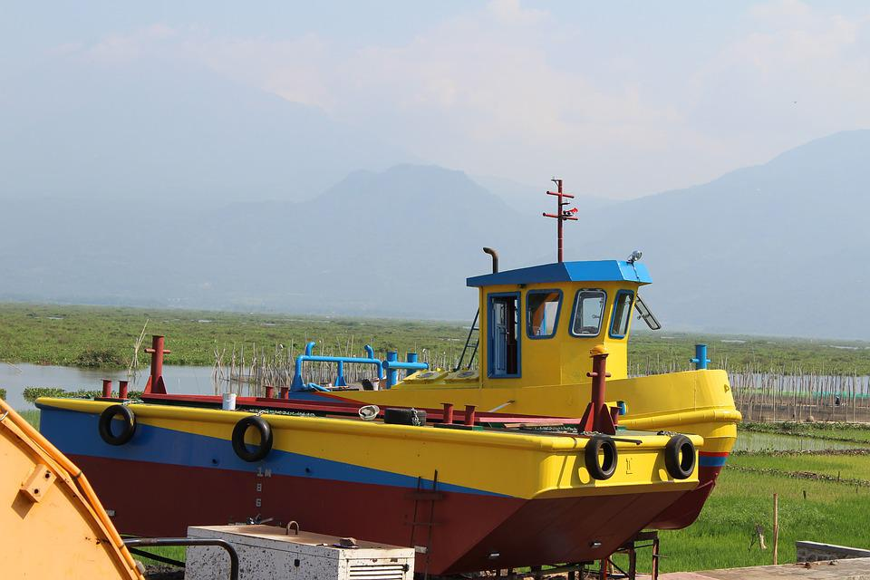 Ship, Mount, Lake, Nature, Indonesian, Central Java