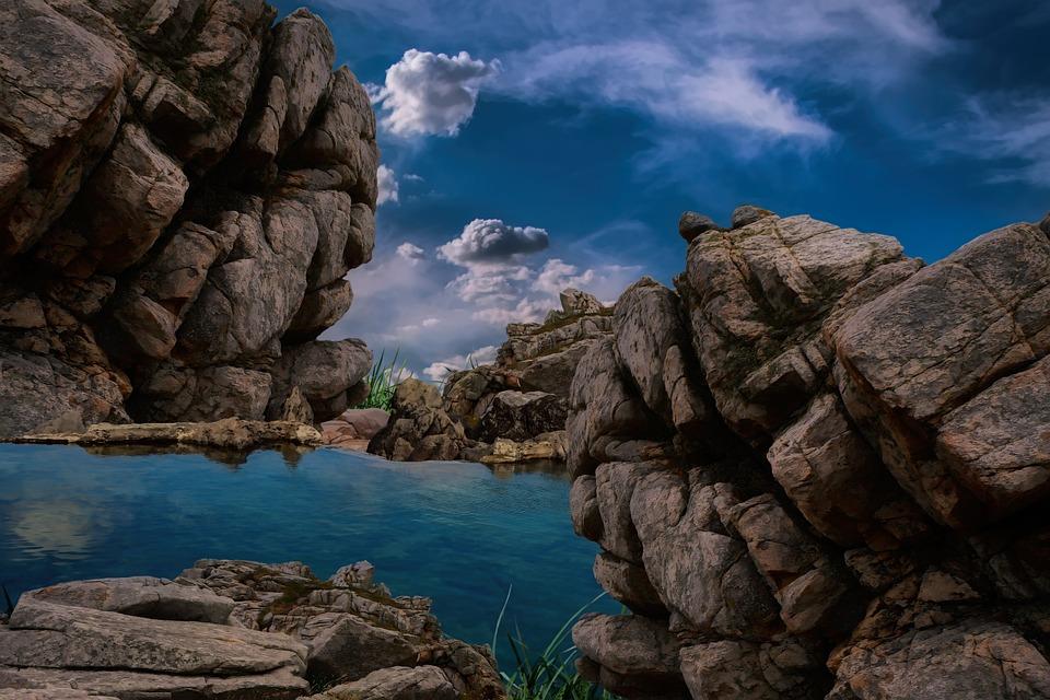Lake, Rocks, Mountain, Pond, Water, Mountain Lake