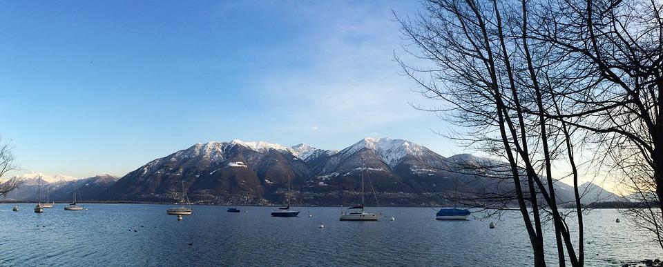 Locarno, Maggiore, Lake, Mountains, Landscape, Water
