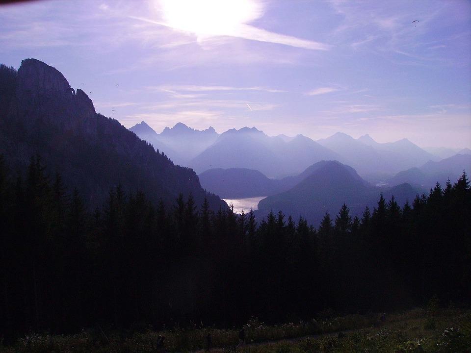Tegelberg, Alpine, Mountains, Landscape, Lake, Allgäu