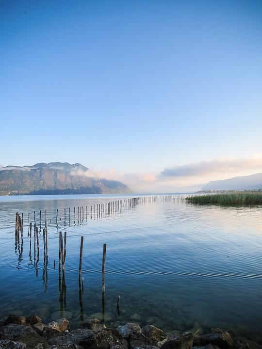 France, Aix Les Bains, Lake, Nature, Water, Reflections