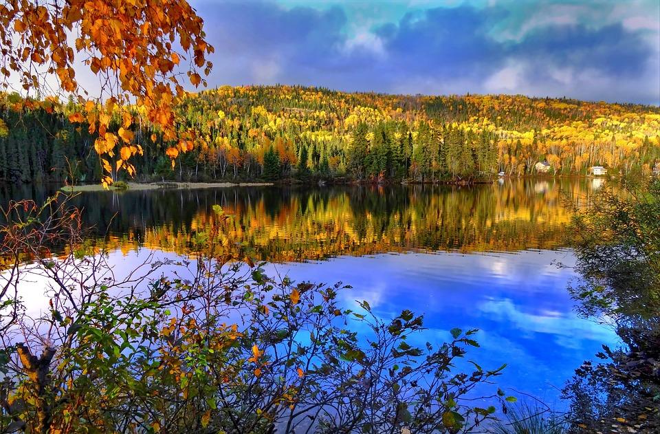 Autumn Landscape, Nature, Autumn Leaves, Lake, Colors