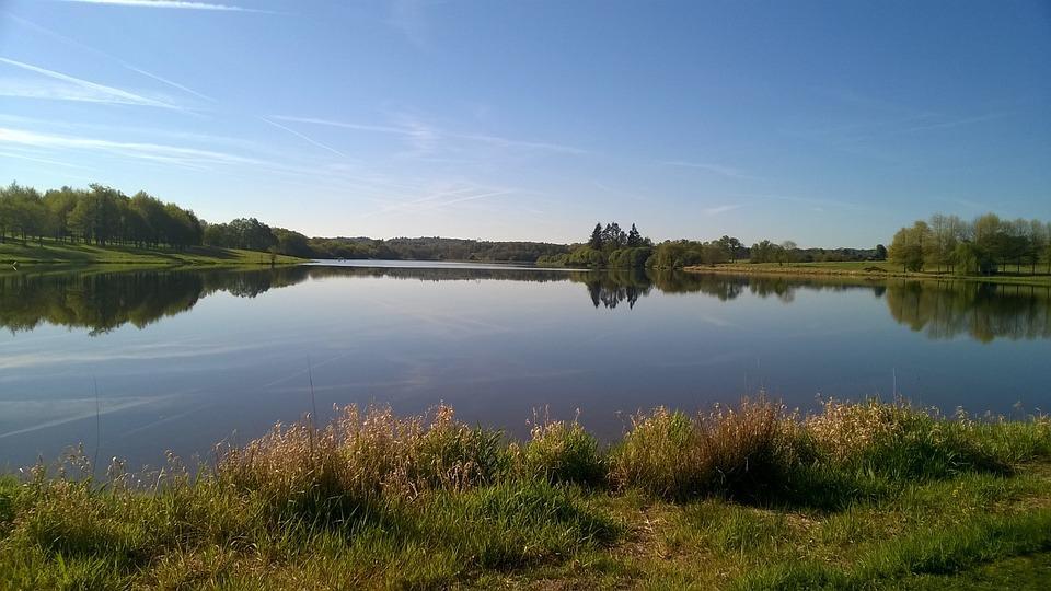 Lake, Lavaud, Grass, Tree, Nature, Based, Landscape