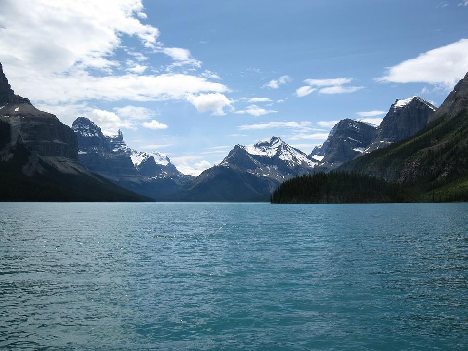 Lake, Jasper, Canada, Nature, Mountains, Mountain