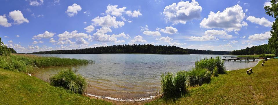 Panoramic, Nature, Monolithic Part Of The Waters, Lake