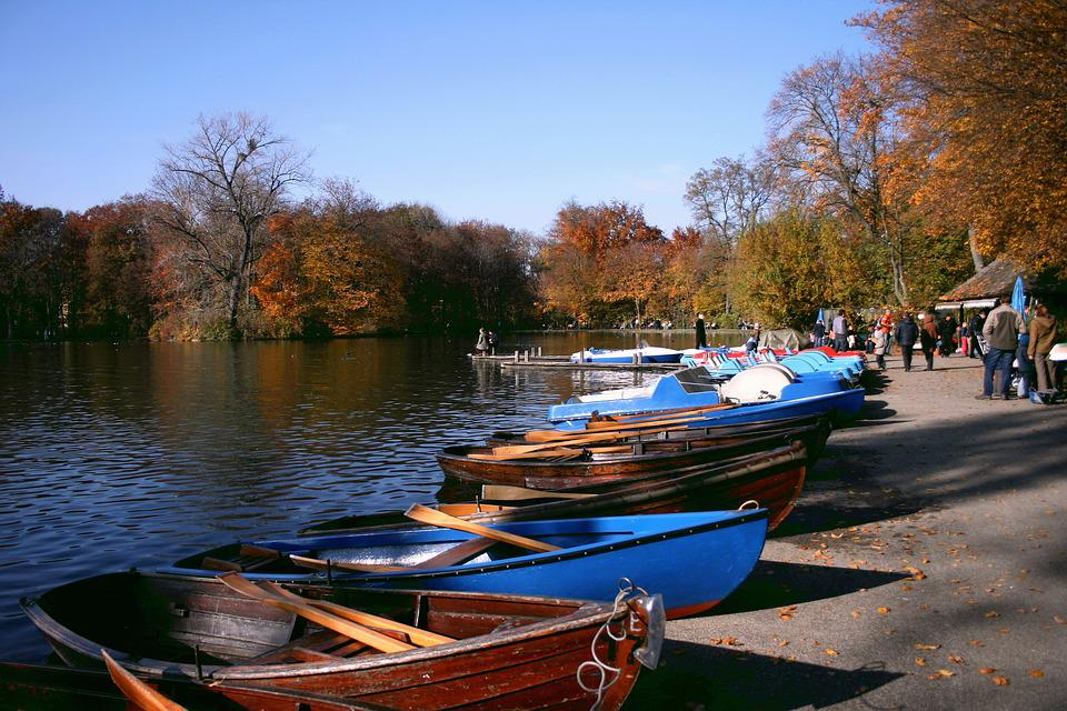 Autumn, Park, Lake, Nature, Boot, Fall Foliage, Human