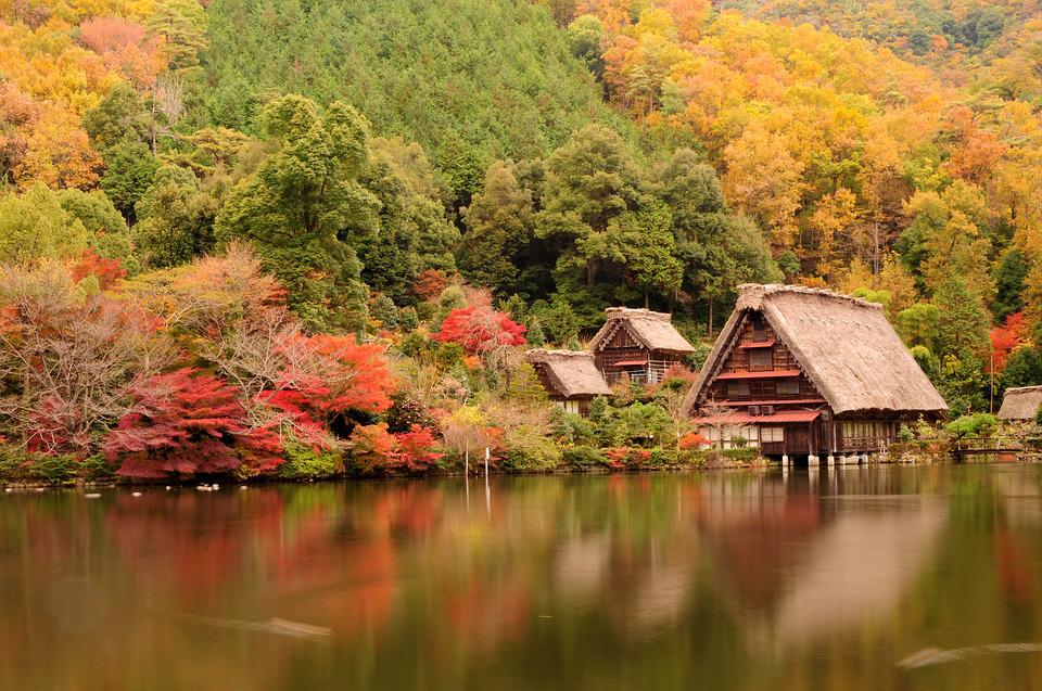 Japan, Traditional House, Lake, Pond, Asia, Tourism