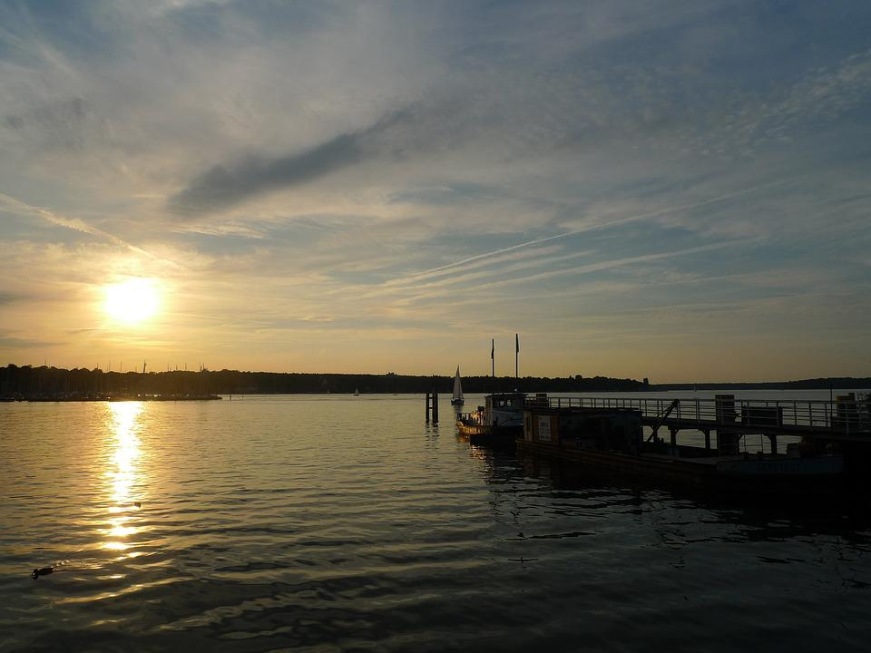 Lake, Sunset, Potsdam, Wannsee