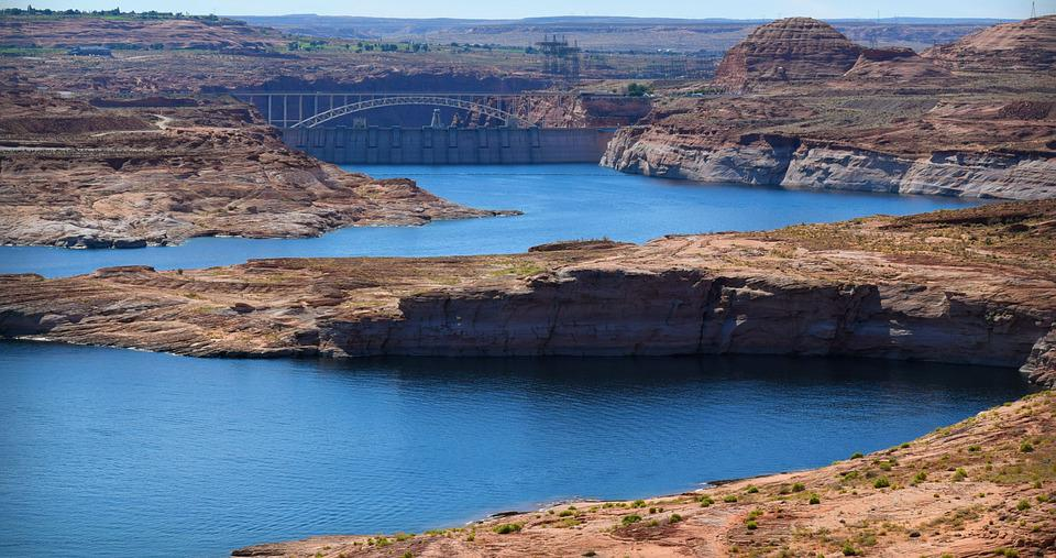 Lake Powell, Dam, Glen Canyon, Bridge, Arizona