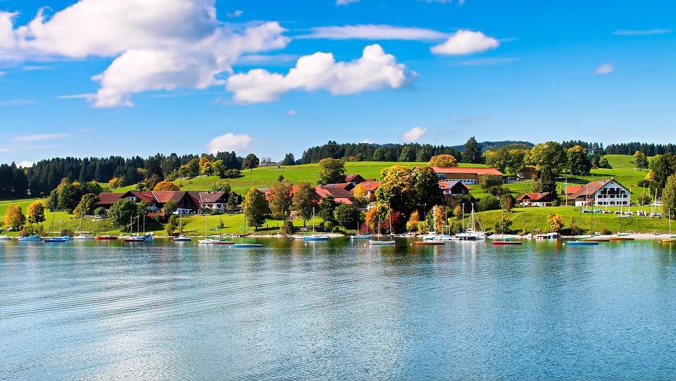 Lake Forggensee, Feet, Reservoir, Nature, Lake