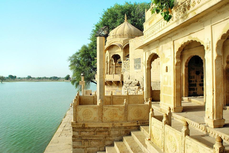 India, Rajastan, Temple, Lake, Sacred, Religion