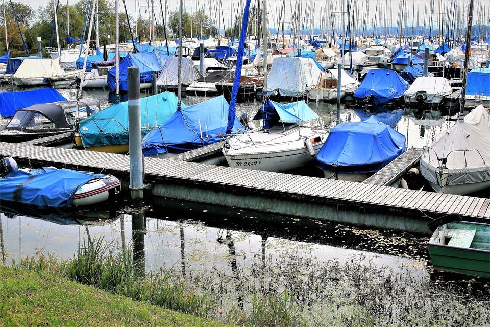 Haven, Boats, Cove, Sails, Lake, Autumn, Sailing