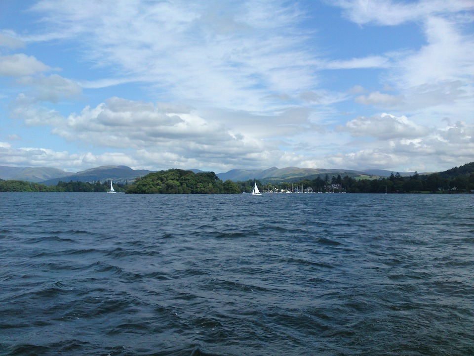 Lake, Windermere, Water, Sky, Clouds, Outdoors, Scenic