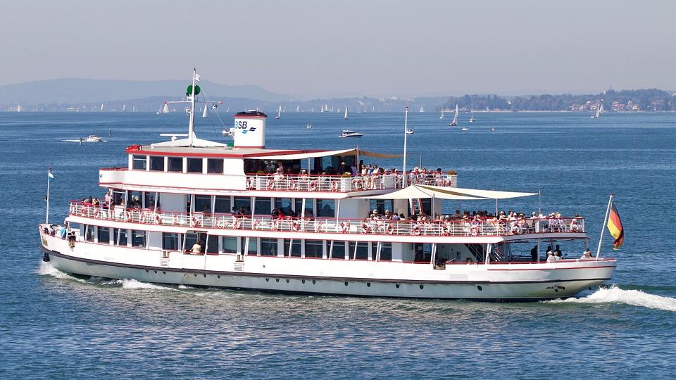 Lake, Ship, Shipping, Passengers
