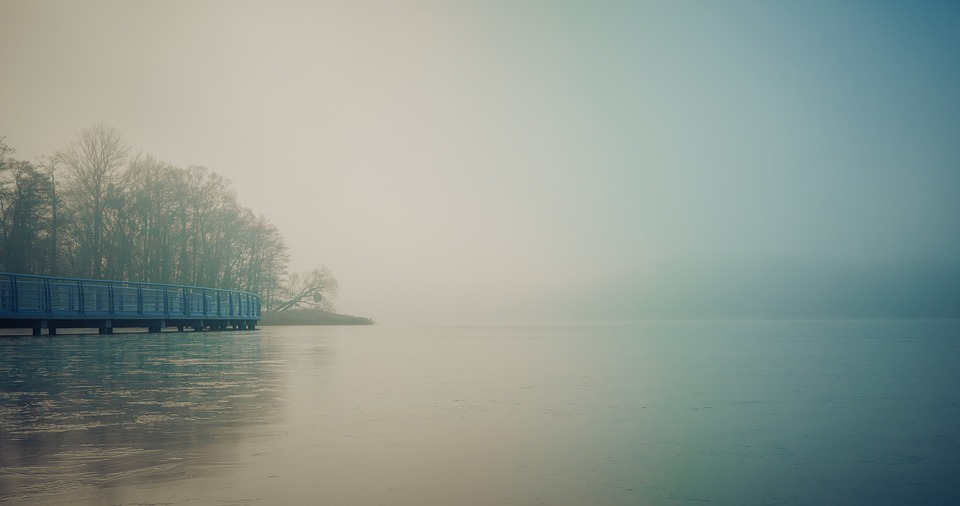 The Fog, Monolithic Part Of The Waters, Lake, Sky