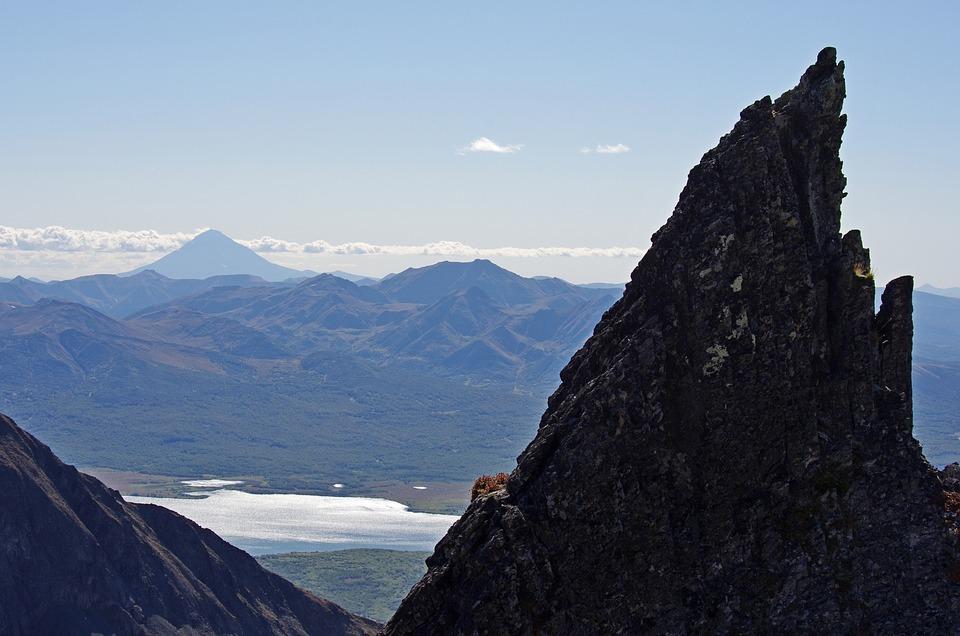 Mountains, Rocks, Stones, Lava, Lake, Forest, Autumn