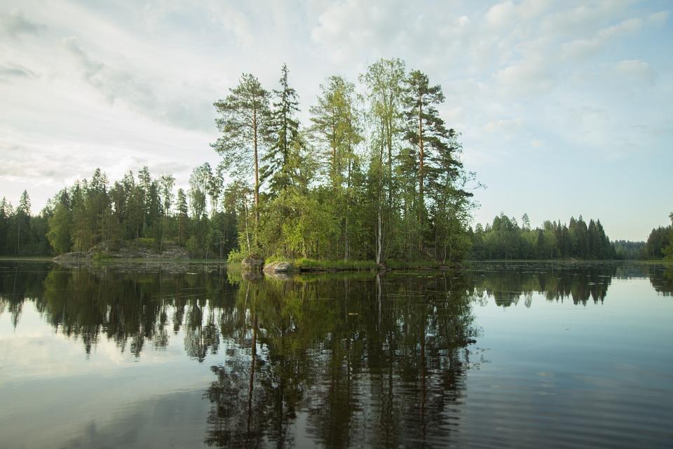Island, Lake, Finnish, Summer, Sky, Beach, Landscape