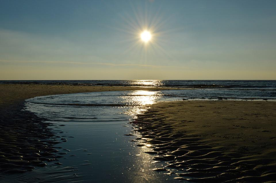 Water, Sun, River, Sand, Beach, North Sea, Sea, Lake