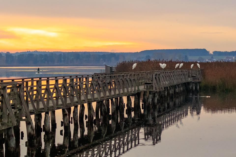 Mood, Landscape, Sunrise, Lake, Spring Lake