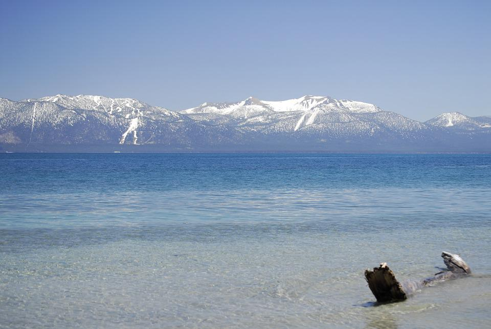 Lake, Lake Tahoe, Tahoe, Mountains, Snow Peaks