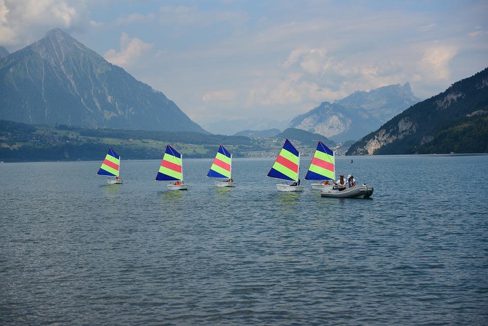 Lake Thun, Optimists, Sail, Course