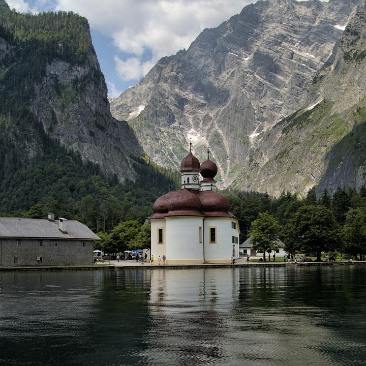 Monolithic Part Of The Waters, Mountain, Lake, Travel