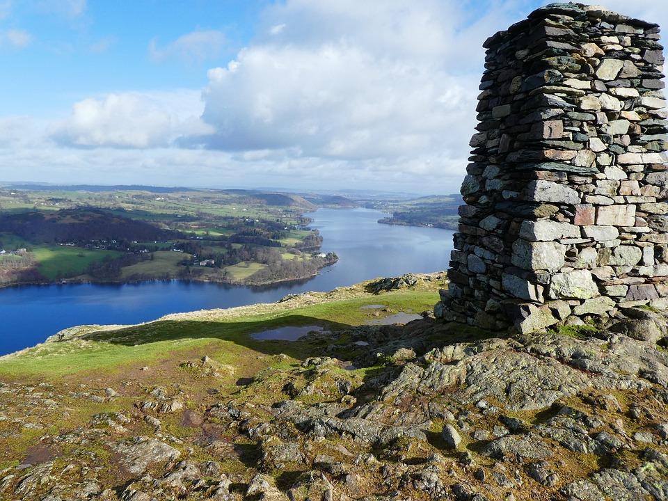 Ullswater, Panoramic, Water, Fells, Lake, Outdoors