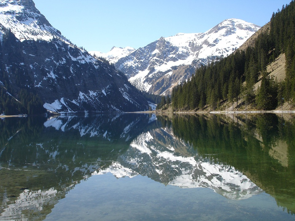Vilsalpsee, Lake, Bergsee, Mirroring, Waters, Mountains