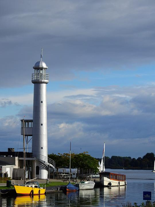 Lighthouse, Water, Lake, North Sea, Holland