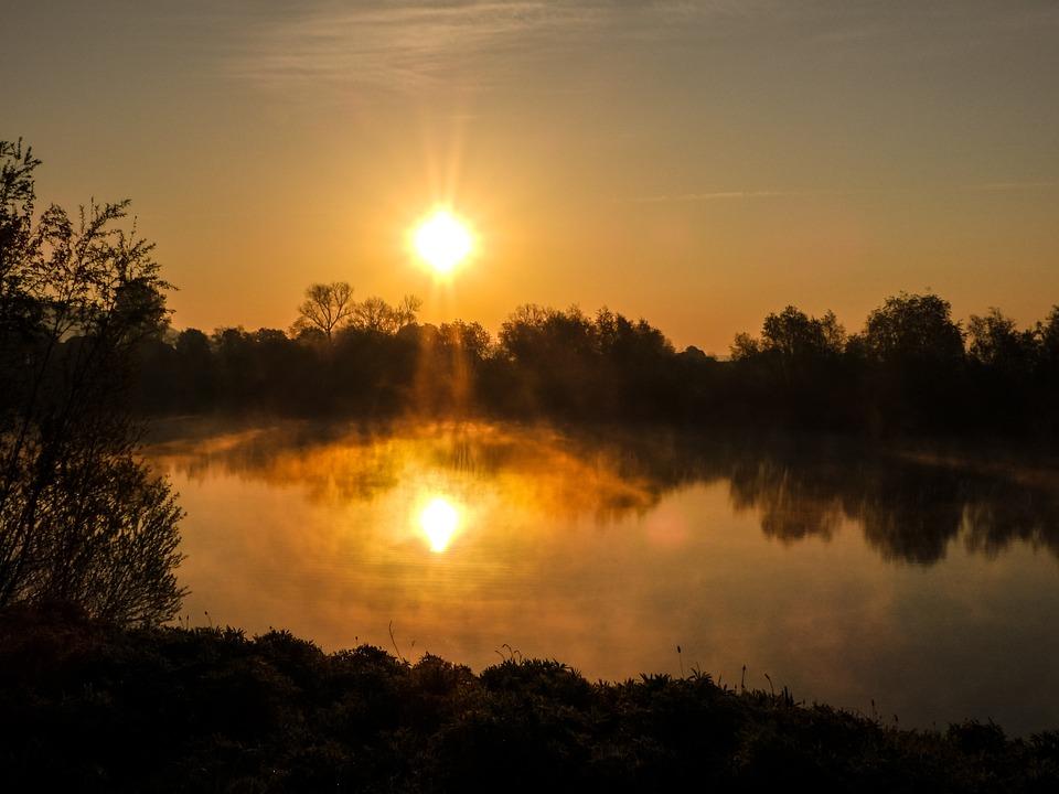 Lake, Sunset, Water, Landscape