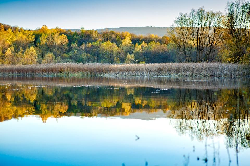 Lake, Sky, Autumn, Water, Reflection, Landscape, Nature
