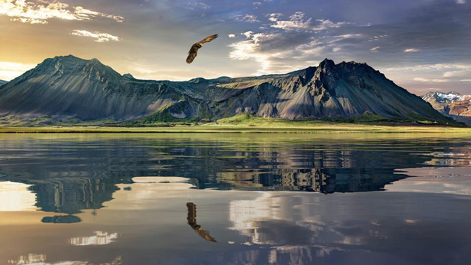 Eagle, Mountains, Lake, Reflection, Water Reflection