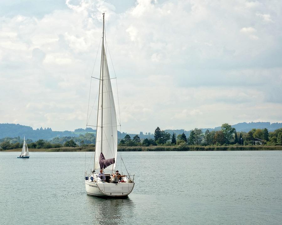 Sailing Boat, Boot, Sail, Lake, Water, Water Sports