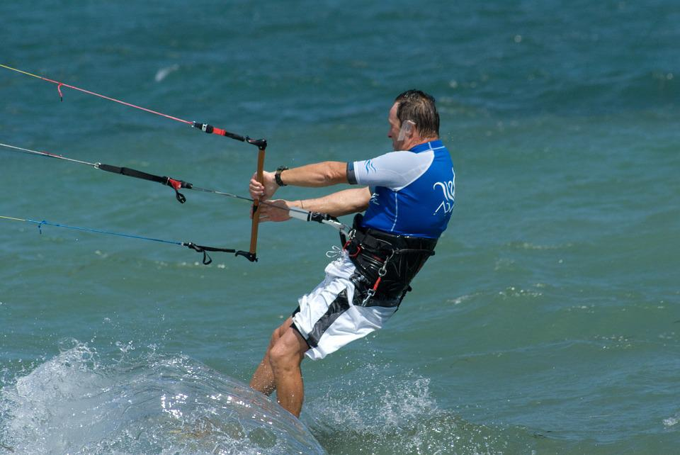 Kite surfing in Lanzarote
