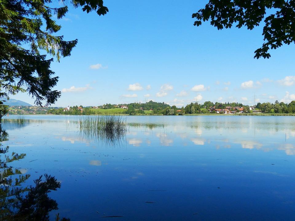Lake Weissensee, Lake, Waters, Mirroring, North Shore