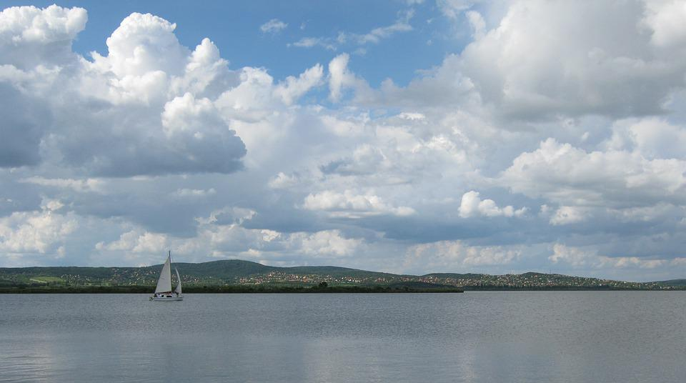 Clouds, Sky, Weather, Lake, Water, Sailing, Summer