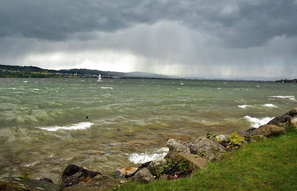 Windsurfer, Lake, Wind Surfing, Sport, Sail, Water