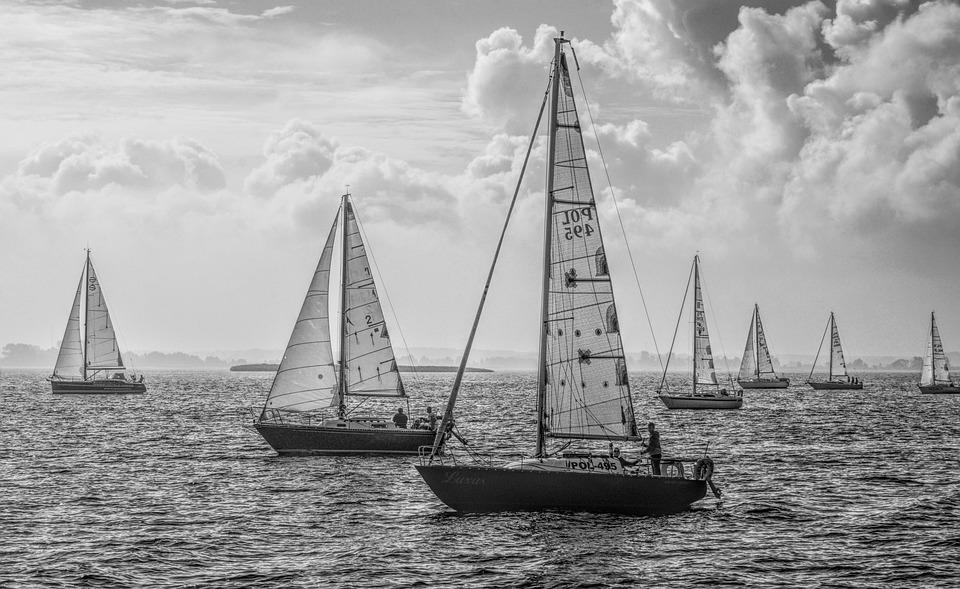 Yachts, Sailing, Boats, Regatta, Lake, Sport, Wind