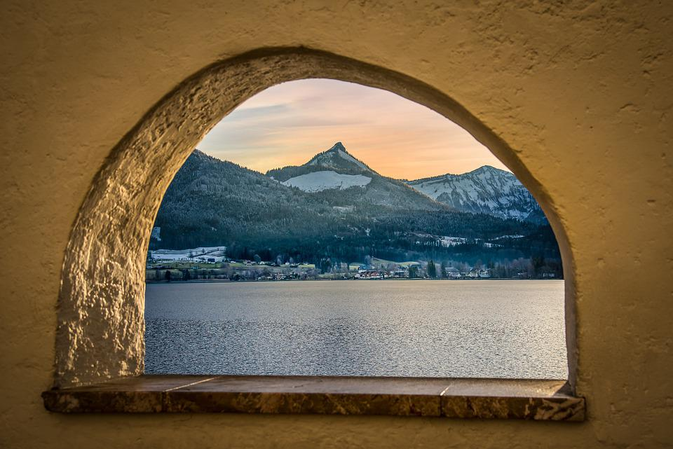 Arch, Window, Lake, View, Lake View, Mountain View