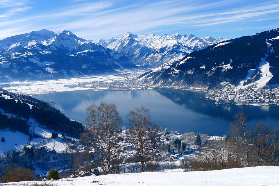 Winter, Wintry, Mountains, Lake, Lake View, Zell Am See
