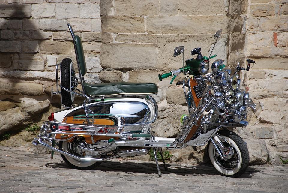 Motorcycle, Wasp, Lambretta, Metal