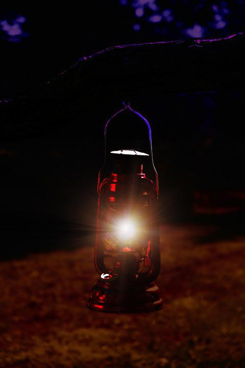 Night, Dark, Light, Lighting, Lantern, Lamp, Oil Lamp