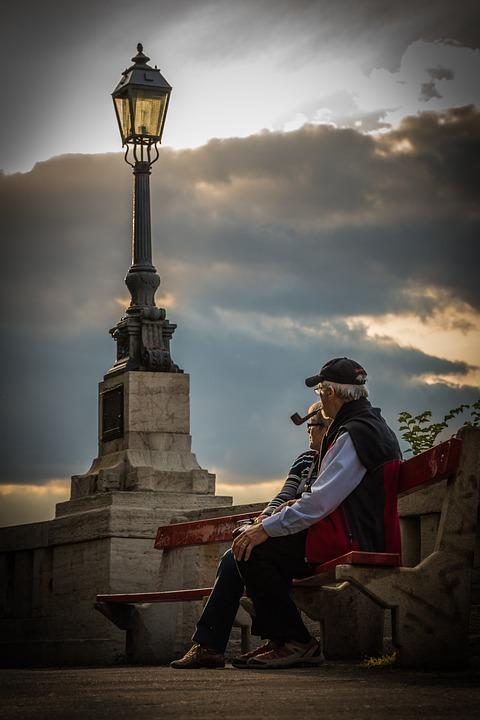 Elderly, Old, Recreation, Elderly Couple, Rest, Lamp