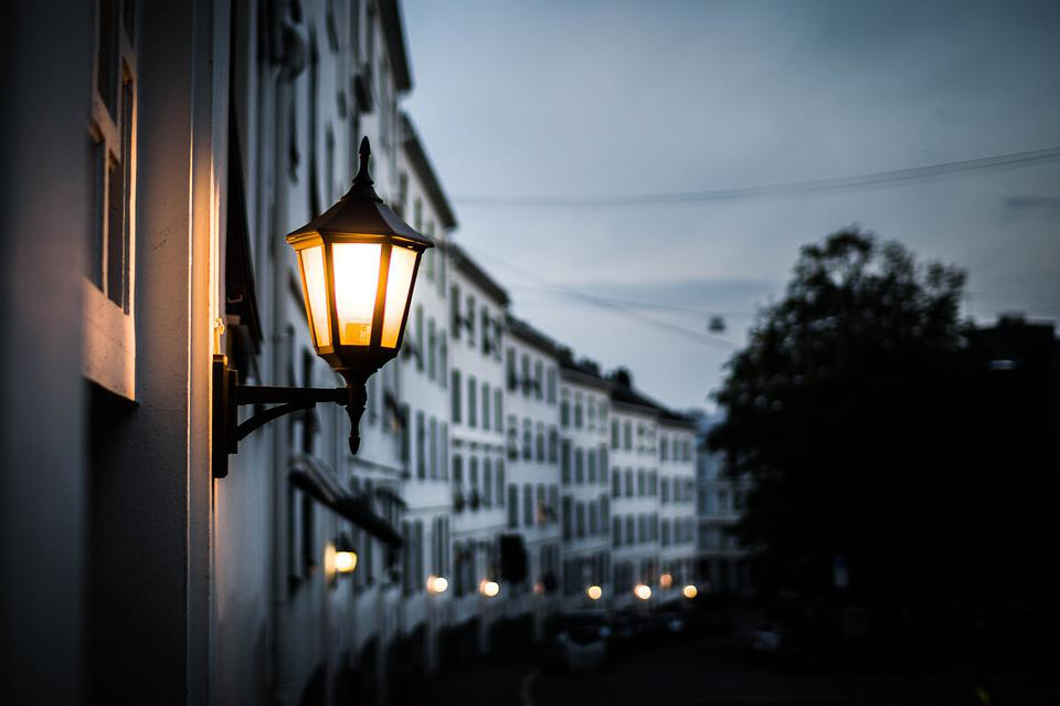 Lamp, Lamp Post, Night, Evening