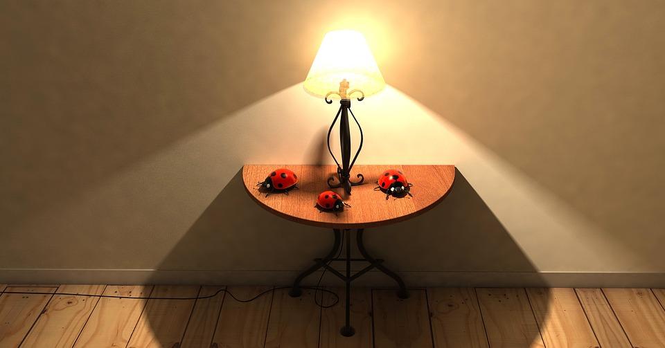 Table, Lamp, Lighting, Parket, Ground, Room, Mood