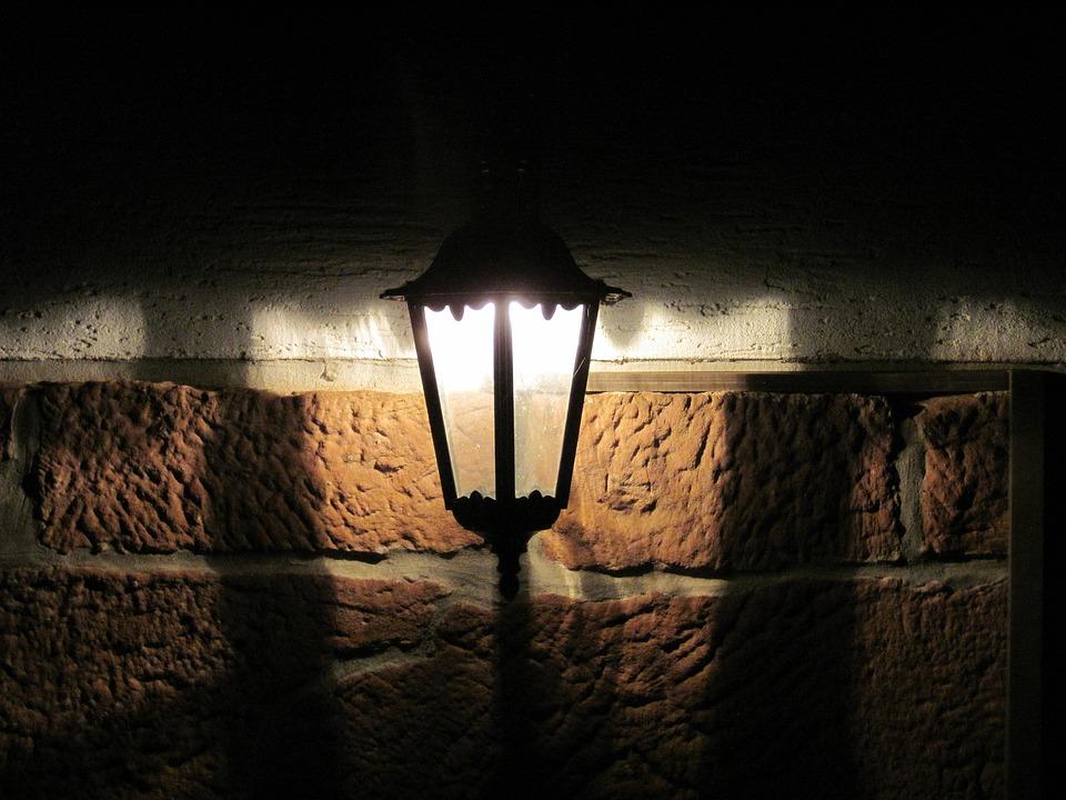 Lamp, Lantern, Wall, Lighting, Light, Night, Outdoor