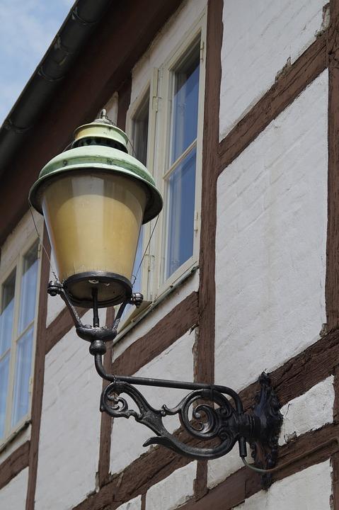 Truss, Fachwerkhaus, Lantern, Lamp, Light, Home